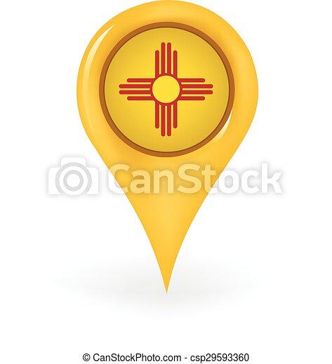 novo, localização, méxico - csp29593360