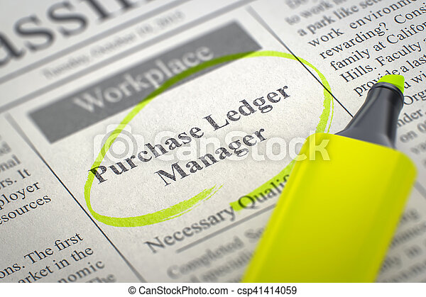 Now Hiring Purchase Ledger Manager  3D