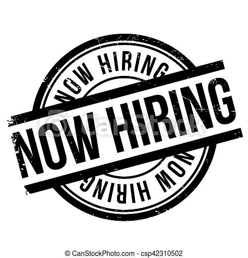 Now hiring stamp - csp42310502