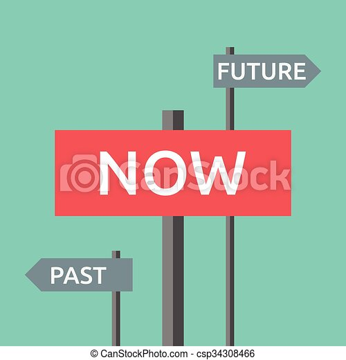 Now, past and future - csp34308466