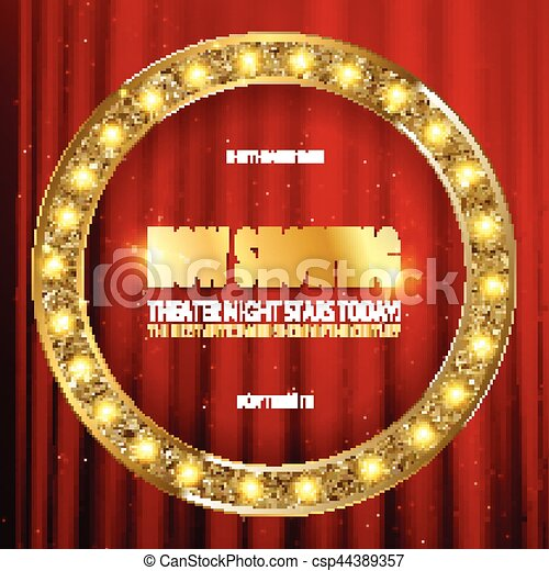Now Showing Frame Theater Sign Circlebrightly Glowing Clipart