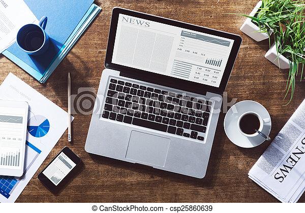 nowość, finansowy, online - csp25860639