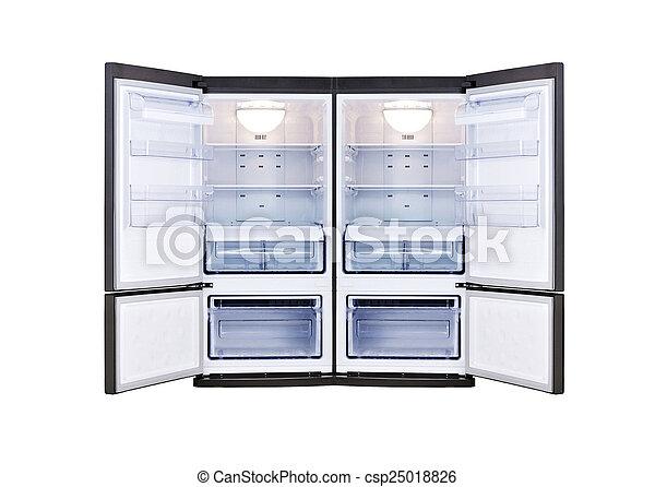 nowoczesny, otwarty, chłodnia, drzwi - csp25018826