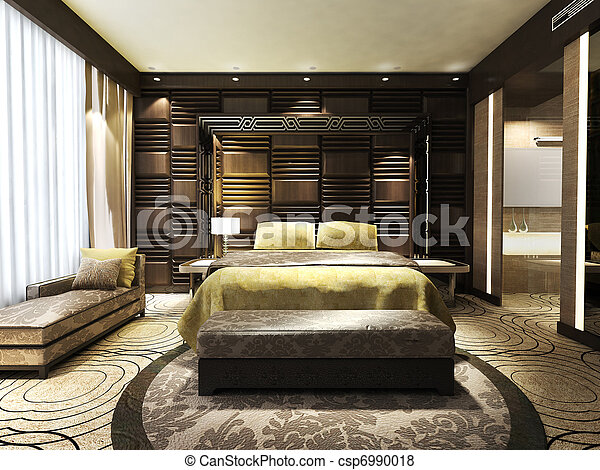 nowoczesny, sypialnia - csp6990018
