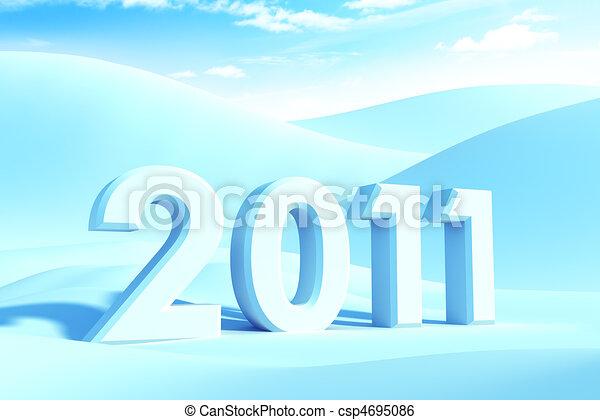nowy, 2011, rok - csp4695086