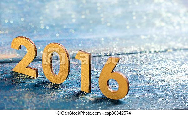 nowy, 2016, rok - csp30842574