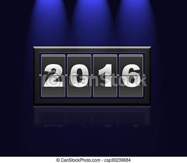 nowy, 2016., rok - csp30239684