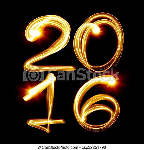 nowy, 2016, rok - csp32251790