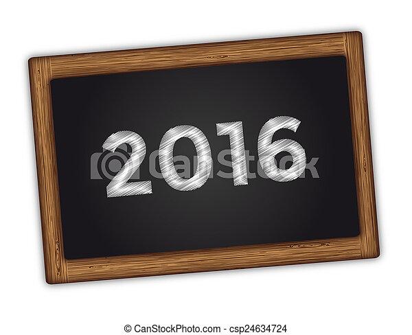 nowy, 2016, rok - csp24634724