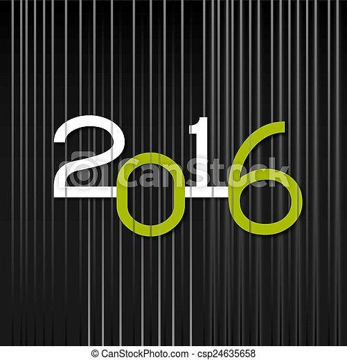 nowy, 2016, rok - csp24635658