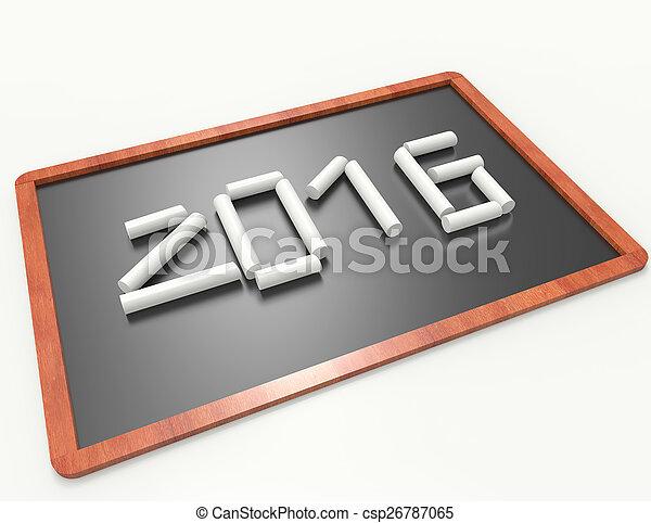 nowy, 2016, rok - csp26787065