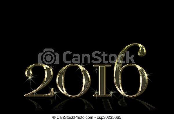nowy, 2016., rok - csp30235665