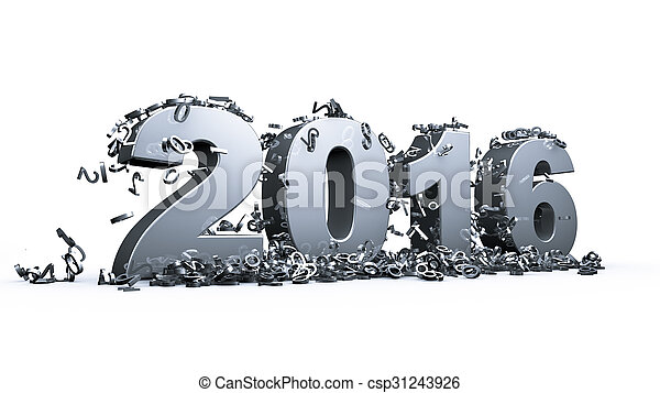 nowy, 2016, rok - csp31243926