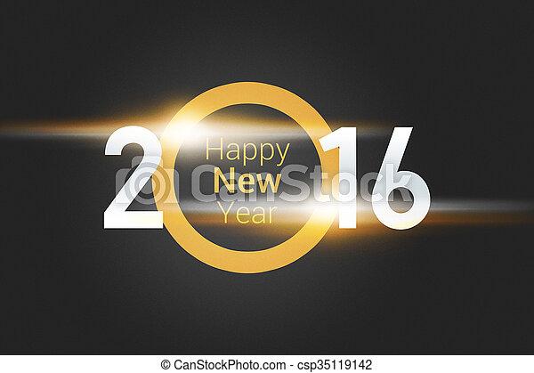 nowy, 2016, rok - csp35119142