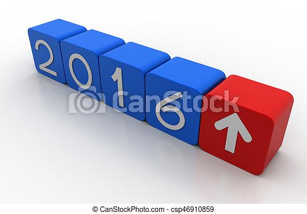 nowy, 2016, rok - csp46910859