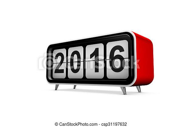 nowy, 2016, rok - csp31197632