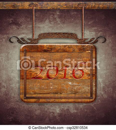 nowy, 2016, rok - csp32810534