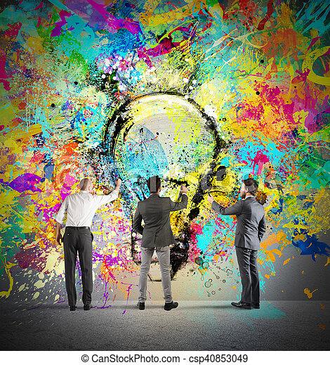 nowy, malarstwo, idea, twórczy - csp40853049