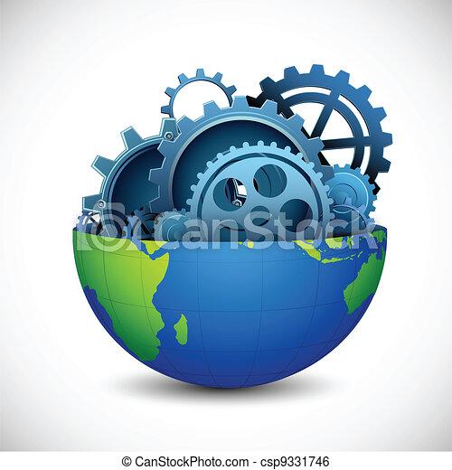 noyau, la terre - csp9331746