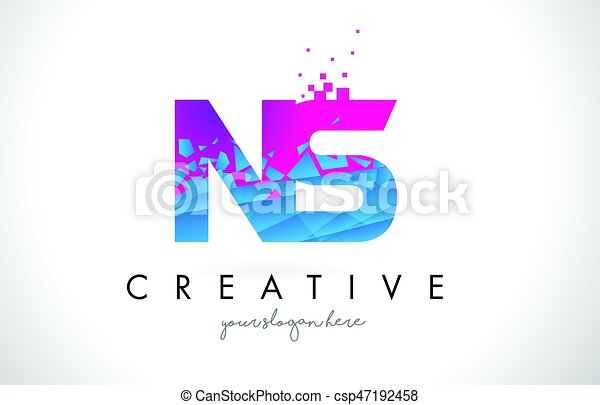 Ns n s letter logo with shattered broken blue pink texture design ns n s letter logo with shattered broken blue pink texture design vector thecheapjerseys Gallery