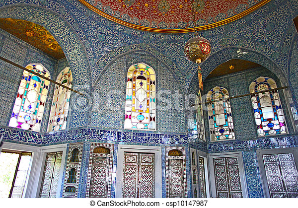 nterior of the Topkapi palace in Istanbul, Turkey  - csp10147987