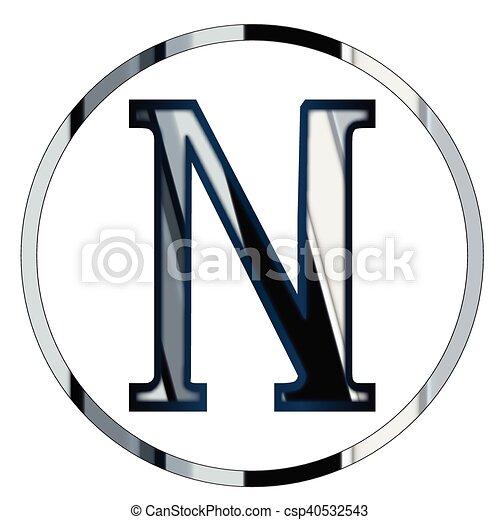 Nu greek letter Nu a letter from the greek alphabet eps vector