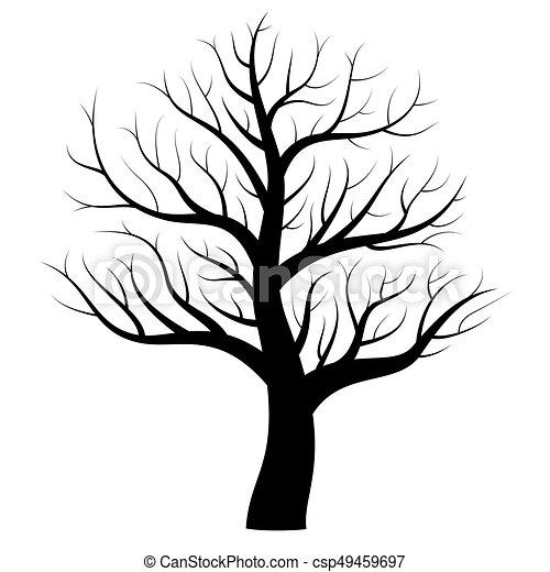Nu Noir Hiver Arbre Icône Mystique Tatouage Branches Arbre