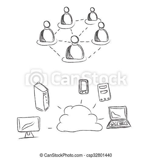 nuage, calculer - csp32801440
