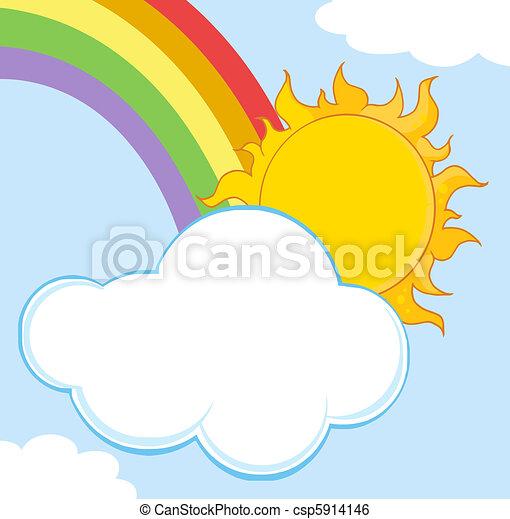 nuage, derrière, soleil, dissimulation - csp5914146