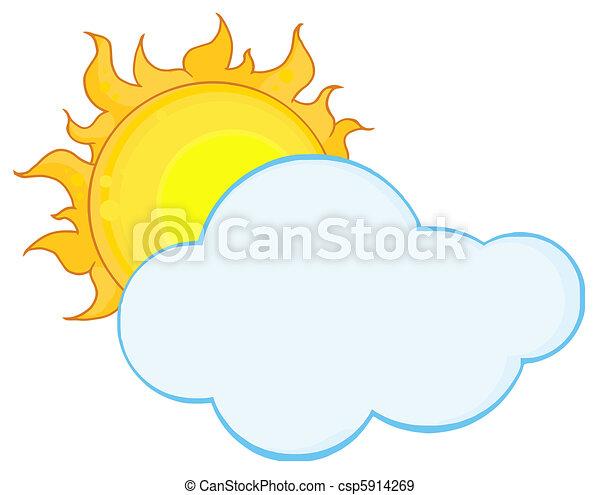 nuage, entiers, derrière, soleil - csp5914269