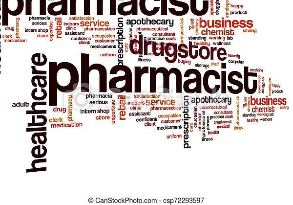 nuage, pharmacien, mot - csp72293597