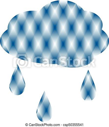 nuage, pluie - csp50355541