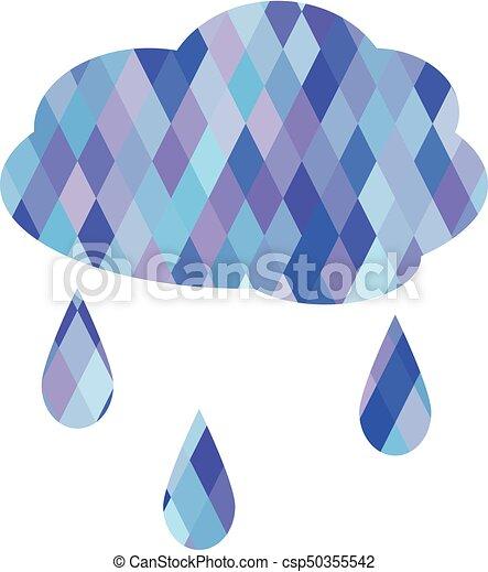nuage, pluie - csp50355542