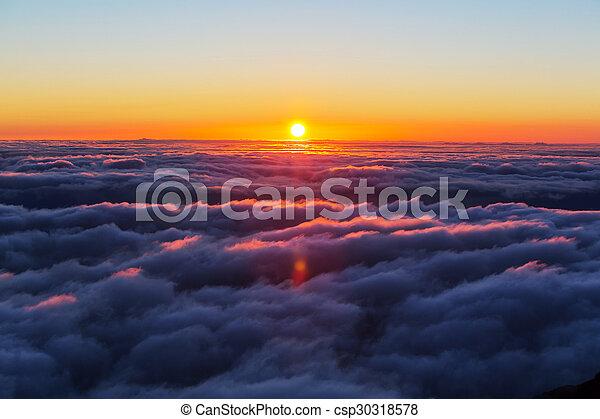 nuages, au-dessus - csp30318578
