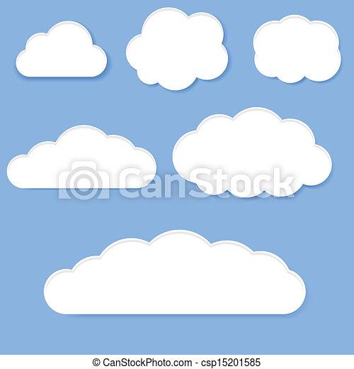 nuages blancs - csp15201585