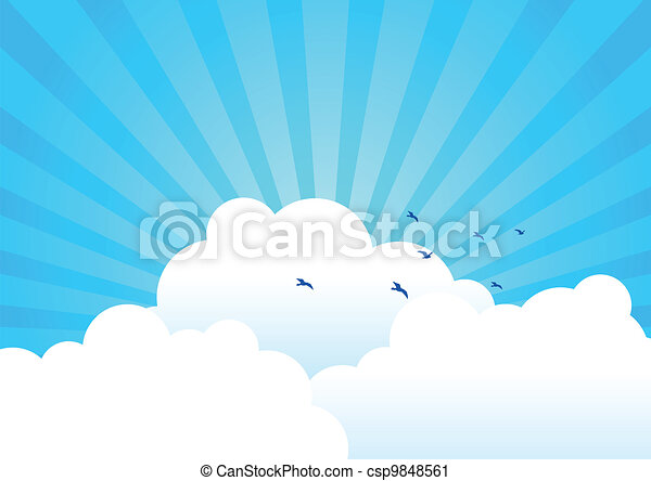 nuages, fond - csp9848561