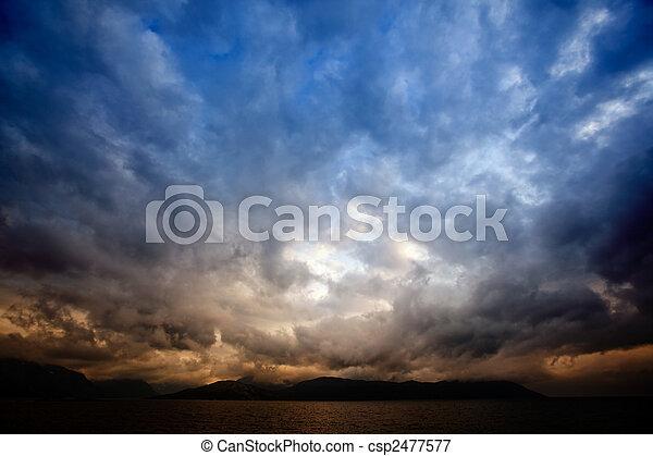 nuages, orage - csp2477577