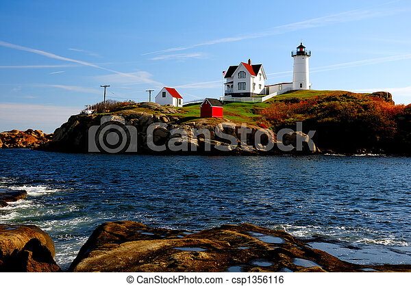Nubble Lighthouse - csp1356116