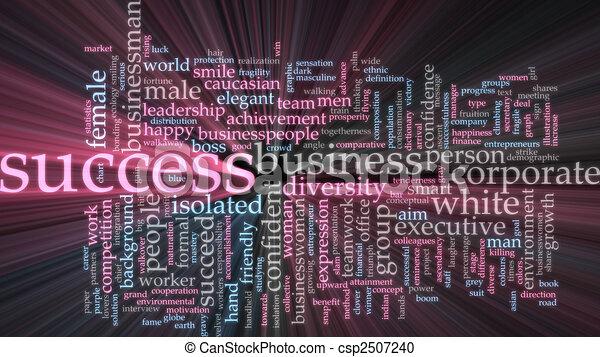 El éxito de la palabra nube resplandece - csp2507240