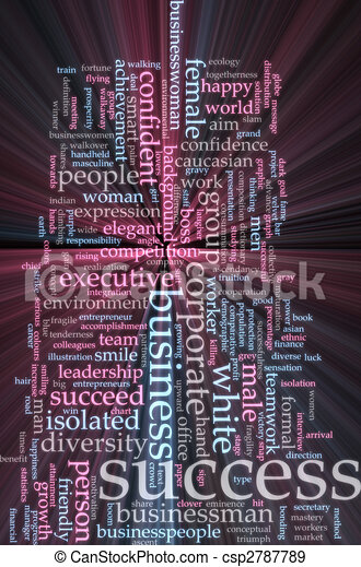 El éxito de la palabra nube resplandece - csp2787789