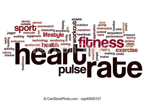 Nube de palabra de ritmo cardíaco - csp40505107