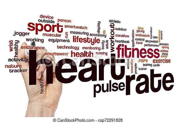Nube de palabra de ritmo cardíaco - csp72291828