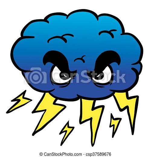 Nube de tormenta - csp37589676
