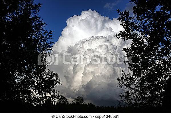 Nube de tormenta en un cielo azul - csp51346561