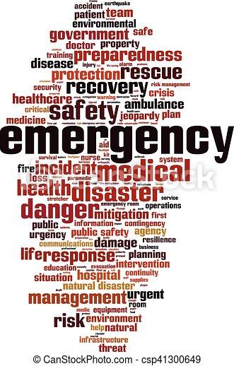 Nube de palabra de emergencia - csp41300649