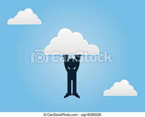 Me imagino colgando de la nube - csp16390028