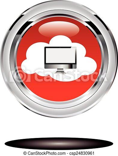 nube, informática - csp24830961
