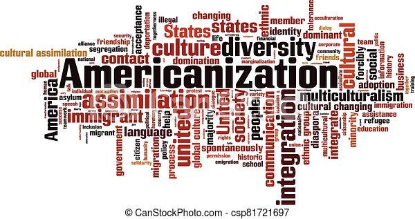 nube, palabra, americanization - csp81721697