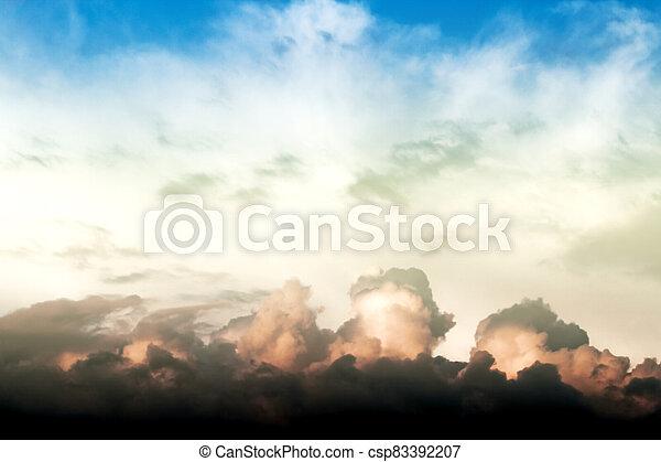 nubes, celeste - csp83392207