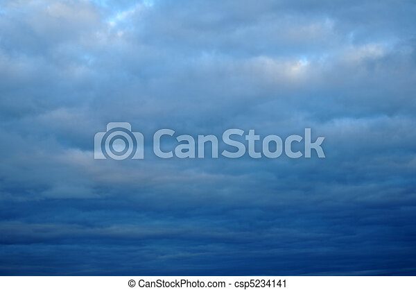 nublado, nuvens, thunderstorm - csp5234141
